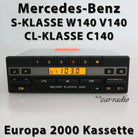 Becker Europa 2000 BE1100 Kassettenradio Mercedes W140 S-Klasse C140 CL-Klasse