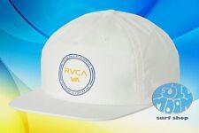 New RVCA Strums Mens White Snapback Cap Hat