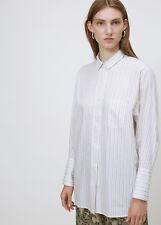8cf79285e69 NEW Acne Studios 40 Bai C Stripe Beige Collared Cotton Shirt Blouse Button