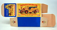 "Matchbox Models of Yesteryear Y-16A Spyker leere originale ""E"" Box top"