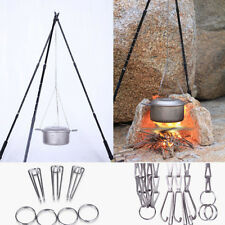 Keith Titanium Pan / Pot chain & hook Cooking Camping Cookware Campfire Hanging