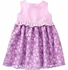 GYMBOREE Egg Hunt Girl 3T Lilac Floral A-line Special Occasion Organza Dress NWT