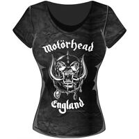 Rock Off Trade Rockoff Trade Women's England Acid Wash T-shirt, Grey, Xx-large
