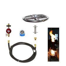"""FR6CK: BASIC PROPANE DIY GAS FIRE PIT KIT & 6"""" LIFETIME WARRANTED 316 BURNER"""