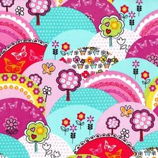 Michael Miller Happy Hills Fabric .Childrens, fun, bright. By Fat Quarter