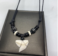 REAL great white shark TOOTH pendant necklace