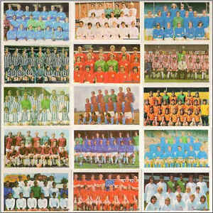 Daily Mirror Mirrorcards 1971-72 Football Team Squads Soccer Cards Various Teams