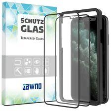 2x 11D Glas iPhone 11 Pro Max X XR XS INSTALLATIONSRAHMEN Panzerfolie Hartglas