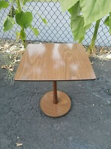 Mid Century Formica top small side table , Pedestal