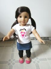 "New ListingAmerican Girl 18"" Asian Doll- dark brown/black hair/brown eyes with outfit"