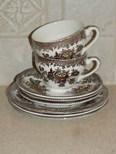 WEDGWOOD CHINA ASIATIC PHEASANTS BROWN MULTI COLOR 8 PIECE BATCH