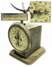 VINTAGE ANTIQUE 1898 AMERICAN CUTLERY FAMILY SCALE 24 LB RARE ADJUSTABLE NO-TRAY