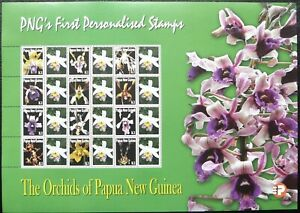 Papua New Guinea Miniature Sheet - Orchids_2007 - MNH.