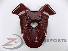 Ducati 848 1098 1198 Ignition Key Case Cover Panel Fairing Cowl Carbon Fiber Red