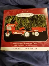 1998 Hallmark Ornament 1955 Murray Tractor & Trailer #5 Kiddie Car Classics Nib