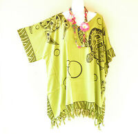 KB118 Turtle Batik Tunic Boho Plus Kimono Poncho Hippy Women Blouse Top up to 5X