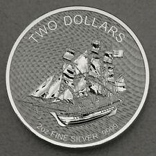Cook Islands Segelschiff Bounty 2020 New Generation 2 oz 999 Silbermünze Kapsel