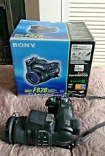 SONY DSC-F828 CYBER-SHOT USED WITH BOX 2 MEMORY CARDS UK EU EUROPE POSTAGE !