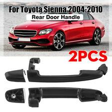 2xRear Exterior Door Handle Driver or Passenger Side for 04-10 Toyota Sienna 05