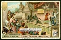 Medieval French Theater Mystere Plays  c1905 Trade Ad  Card
