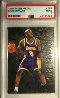 1996 Fleer Metal #181 Kobe Bryant Rookie PSA 9 Mint CLEAN