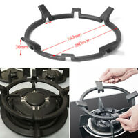 Black Cast Iron Wok Pan Support Rack Stand For Burners Gas Hob Stove 2 Sizes
