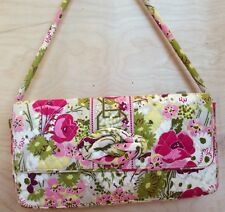 Vera Bradley In Make Me Blush Medium Clutch Turn Lock Shoulder Handbag