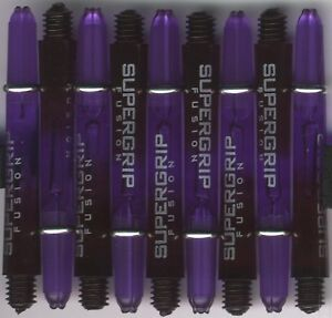 1.75in 2ba Black/Purple HARROWS SUPERGRIP FUSION Dart Shafts & Rings: 1 Set of 3