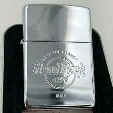 Hard Rock Cafe Zippo Lighter MAUI 🇺🇸 - polished Chrome - NEW - Cafe closed