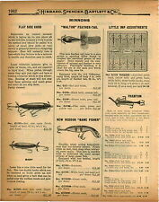 1926 PAPER AD New Heddon Game Fisher Fishing Lure Walton Feather Tail Flat Chub