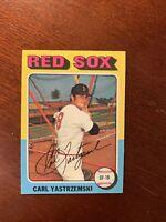 1975 Topps Carl Yastrzemski Card #280 EX-NM HOF Boston Red Sox