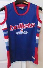 NBA Washington Capital Bullets Hardwood Classics Jersey Sz Large Sewn