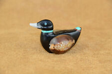 Zuni Duck with Sea shell wings signed DTY