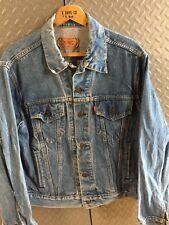 31230 Vintage Mens LEVIS Denim Trucker / Western JACKET / COAT ~ Size 46