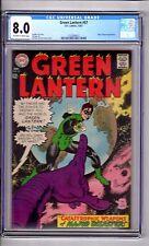 Green Lantern #57 CGC 8.0 OW/WP 'App..Major DISASTER..Ring Power' Gil Kane C&A!