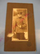 Soldat,Uniform 1895-1910 Kabinett,CDV Foto.Atelier Gunkel,Leipzig-Antique photo