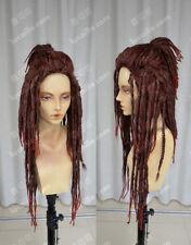 DMMd Mink DRAMAtical Murder Minke Wig Black Dreadlocks Cosplay Wig + Wig Cap