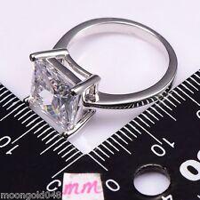 White Topaz Silver Filled Fashion Gemstone Ring Size 9