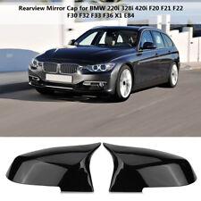 Car Glossy Black Wing Mirror Cover Cap For BMW F20 F21 F22 F30 F32 F36 X1 F87 M3
