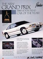1991 Pontiac Grand Prix STE Sport Sedan Classic Vintage Advertisement Ad D189