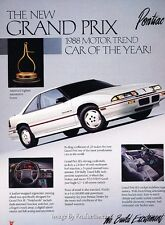 1988 Pontiac Grand Prix Motor Trend -  Classic Vintage Advertisement Ad A71-B