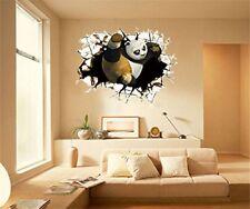 3D PANDA  (50x70Cm)Crack Wall Art Sticker Decal Vinyl Graphic Boys Bedroom NEW