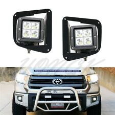 2x 12W Cree Led Fog lights work w/ Mounting Bracket For 2014-up Toyota Tundra