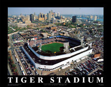 Detroit Tigers Baseball TIGER STADIUM 1912-1999 Final Day Aerial POSTER Print