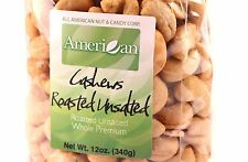 12oz Gourmet Style Bag of Roasted Unsalted Jumbo Whole Premium Cashews [3/4 lb.]