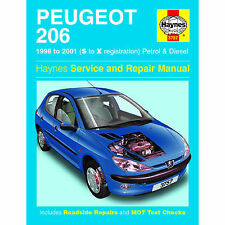 HAYNES PEUGEOT 206 98-01 S TO X REGISTRATION PETROL AND DIESEL