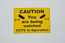 Caution You Are Being Watched CCTV In Operation Sticker 140mm x 100mm.