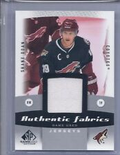 2010-11 SP GAME USED SHANE DOAN FABRICS JERSEY