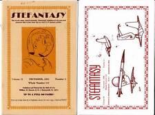 2 Science Fiction fanzines STEFANTASY 1995 & 1996, Harry Warner, cover by ATOM