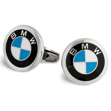 BMW Roundel Logo Cuff Links - Pair, Matte Silvertone Metal 80232208708
